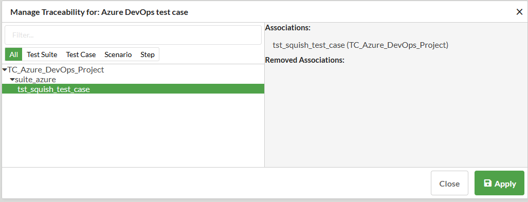 Mapping DevOps test cases to test results in Squish Test center